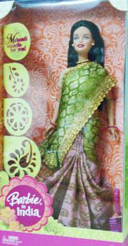 Buy Indian Barbie In Yellow Amp Ivory Saree Barbie In Saree