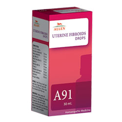 Buy Allen Homeopathy A91 Uterine Fibroids Drops treats Abnormal