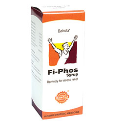 Buy Bahola Homeopathy Fi Phos Syrup - Remedy for Stress