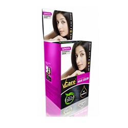 Vcare Shampoo Hair Color Green Shampoo Base  Black Hair In 5 Mins  FoTI A