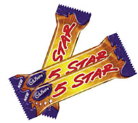 Five star chocolate bar