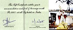Send Taj Hotel, Resorts & Palaces Gift