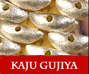 North Indian Sweets Kaju Gujiya