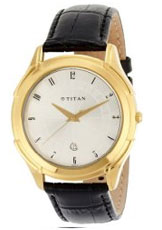 Titan Classique Analog Silver Dial Men's Watch - NE1558YL01