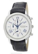 Titan Classique Chronograph Silver Dial Men's Watch - NE1489SL01