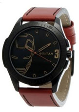Titan Iron Man 3 Analog Black Dial Men's Watch - 1587NL01