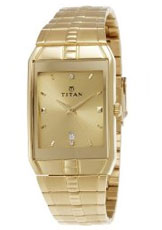 Titan Karishma Analog Champagne Dial Men's Watch - NE9151YM03A