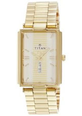 Titan Karishma Analog Gold Dial Men's Watch - NE1455YM02