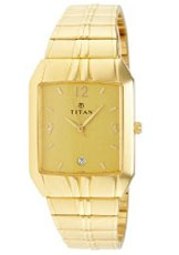 Titan Karishma Analog Golden Dial Men's Watch - NE1578YL02