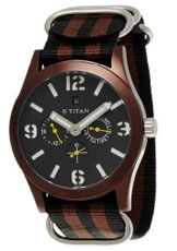 Titan Multi-Function Chronograph Black Dial Men's Watch - 9473AP01J