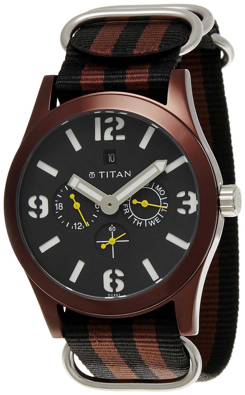 9034fe01a Buy Titan Multi-Function Chronograph Black Dial Men s Watch - 9473AP01J. Titan  Watches Online Shop mall.coimbatore.com.