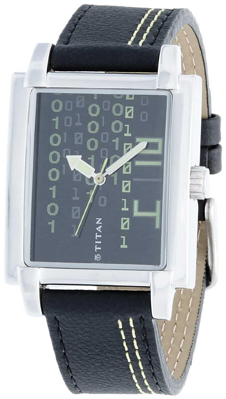 2abe92c05 Buy Titan Tagged Analog Black Dial Men s Watch - 1593SL03. Titan Watches  Online Shop mall.coimbatore.com.
