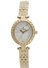 Titan Karishma Analog Off White Dial Women's Watch - 2466YM01