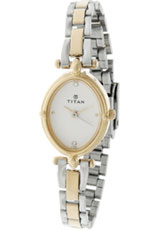 Titan Karishma Analog Silver Dial Women's Watch - NE2419BM01