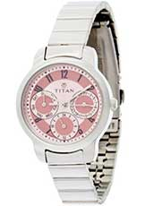 Titan Youth Analog Pink Dial Women's Watch - NE2481SM02