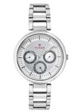 Titan Youth Analog Silver Dial Women's Watch - NE2480SM03